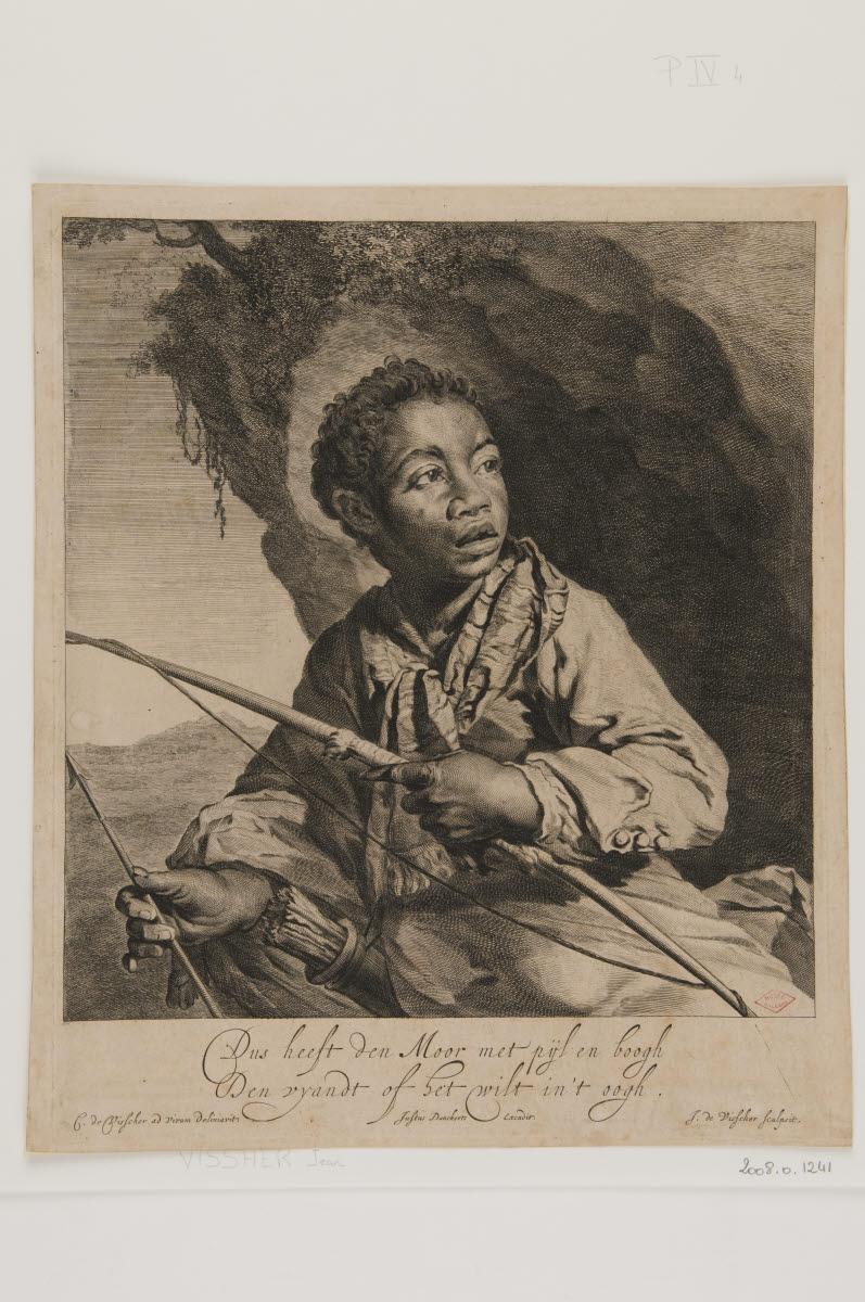 DANCKERTS Justus (éditeur), VISSCHER Cornelis (inventeur), VISSCHER Jan de (graveur) : Le Nègre
