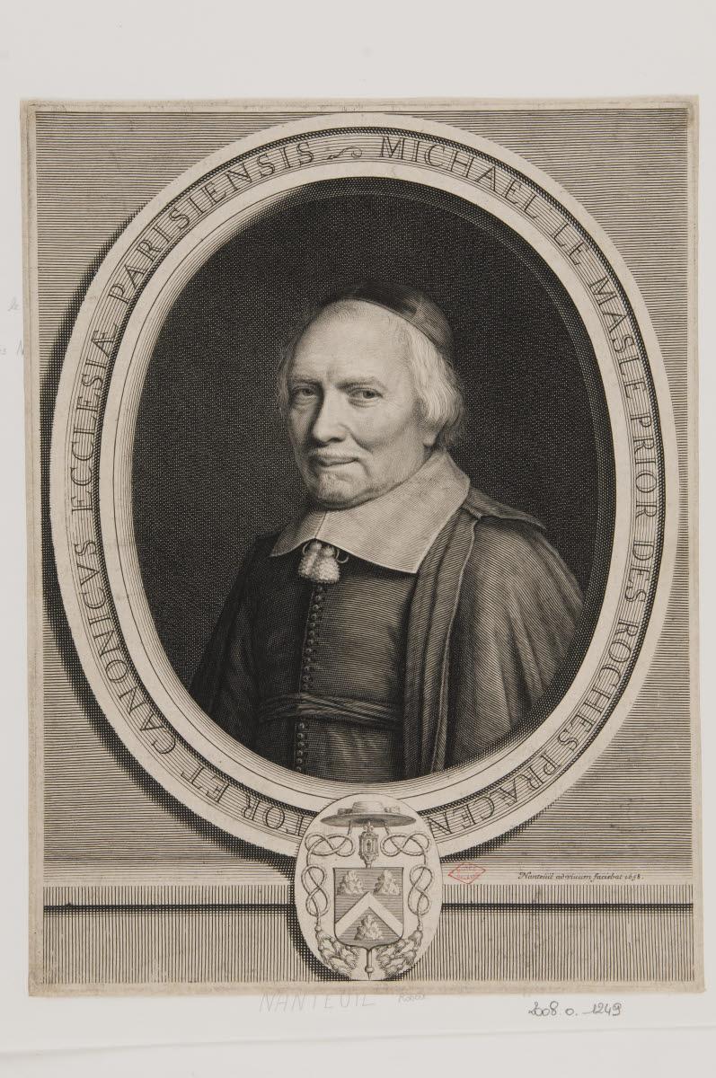 NANTEUIL Robert (inventeur, d'après, graveur) : Michel Le Masle, prieur des Roches