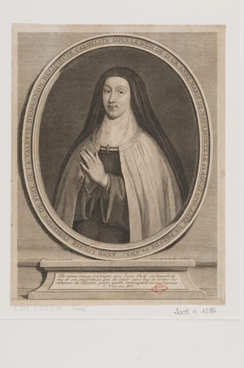BEAUBRUN Henri (d'après, ?), BEAUBRUN Charles (d'après, ?), EDELINCK Gérard (graveur) : Anne Louise Christine de Foix de la Valette d'Epernon