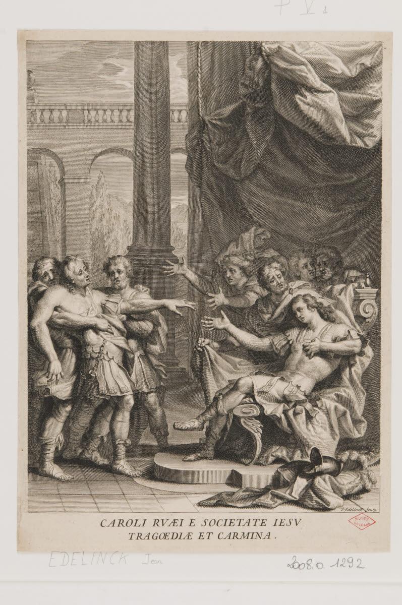 Frontispice des Tragoediae et carmina de Charles de la Rue_0