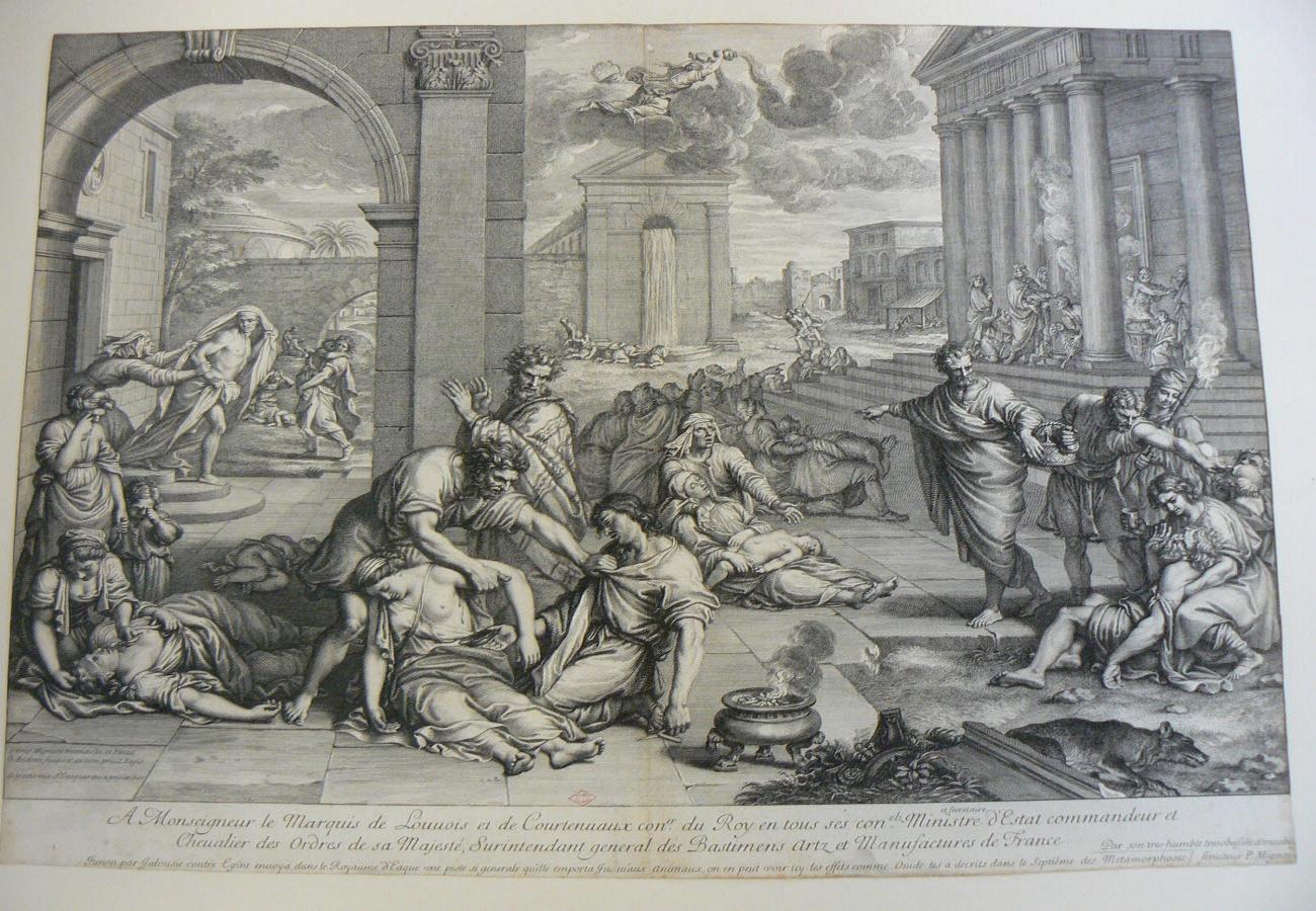 AUDRAN Gérard (graveur), MIGNARD Pierre (inventeur) : La Peste d'Egine
