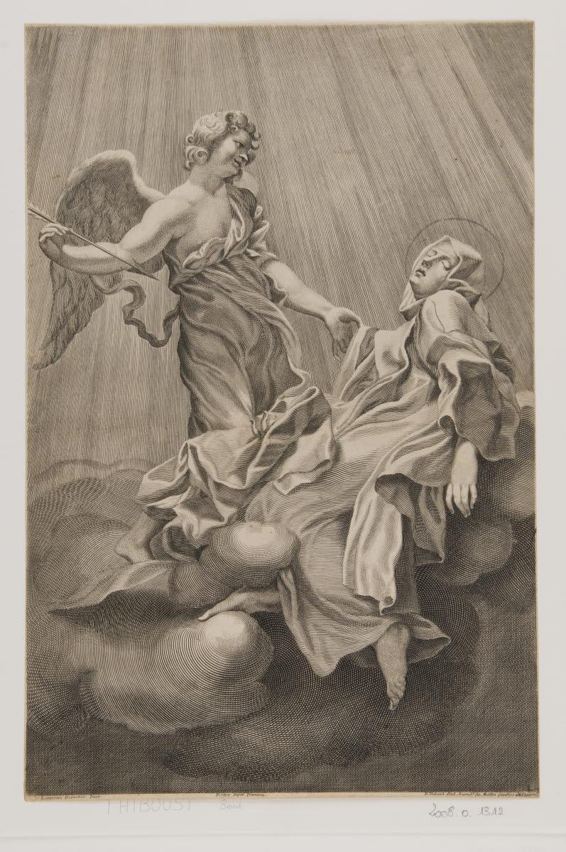 THIBOUST Benoît (graveur) : Sainte Thérèse en extase