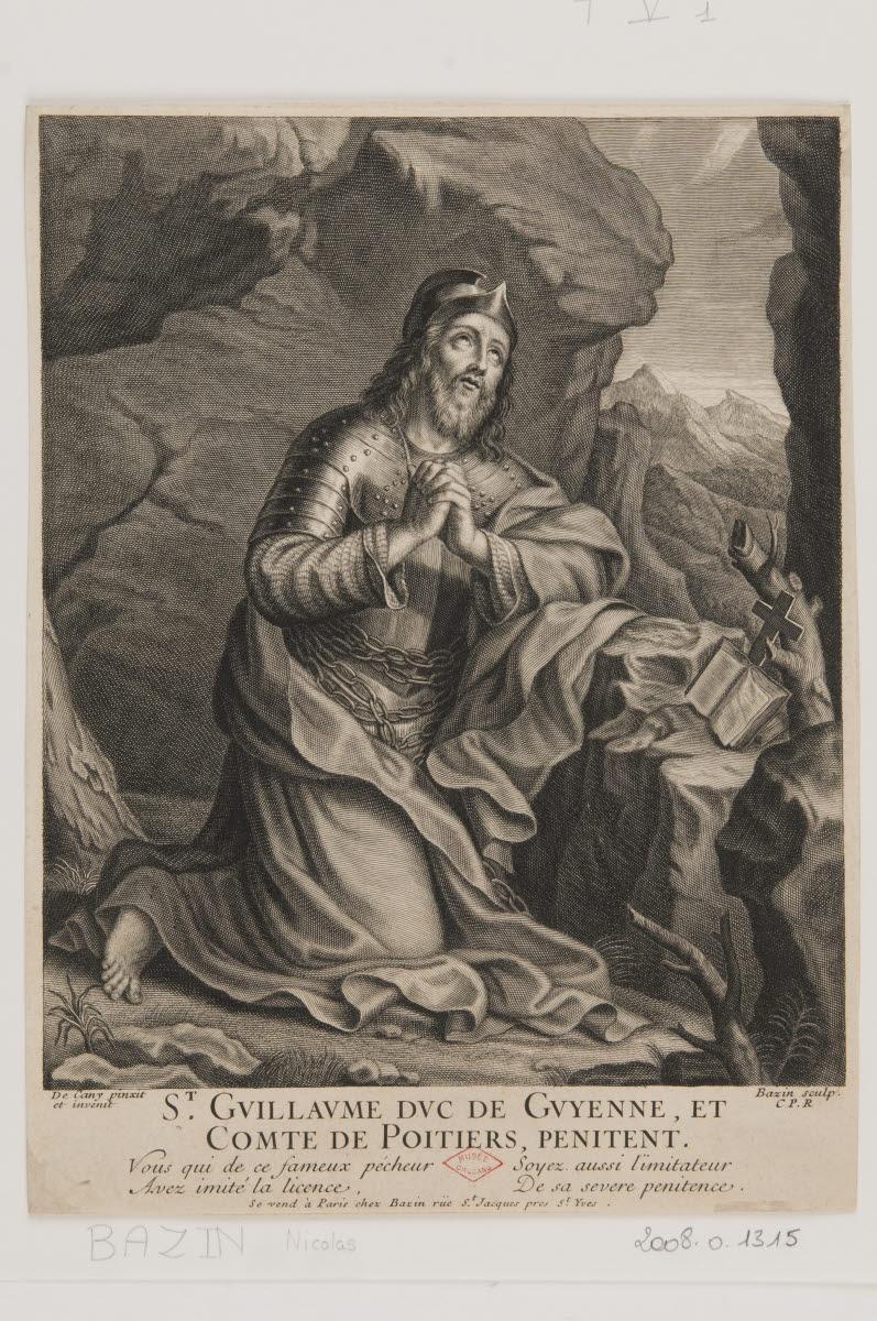 Saint Guillaume duc de Guyenne et comte de Poitiers pénitent_0