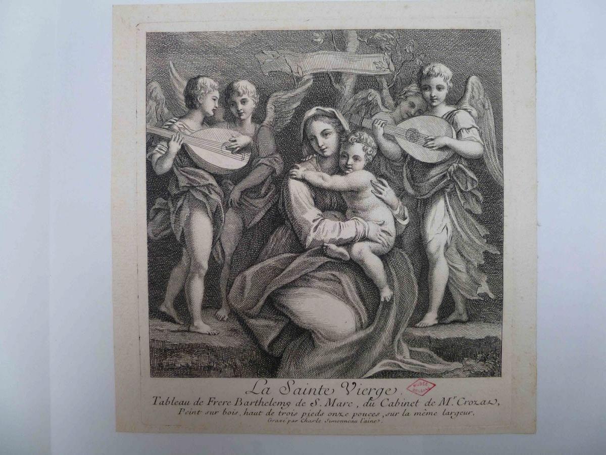 Vierge à l'Enfant entourée d'anges_0