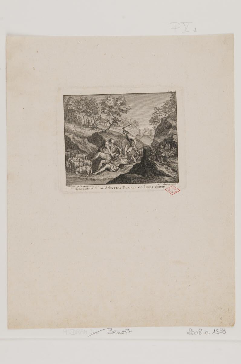 Daphnis et Chloé délivrent Dorcon de leurs chiens_0