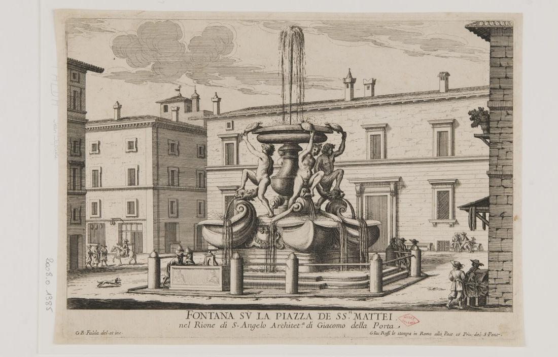 La fontaine de la place saint Matthieu à Rome_0