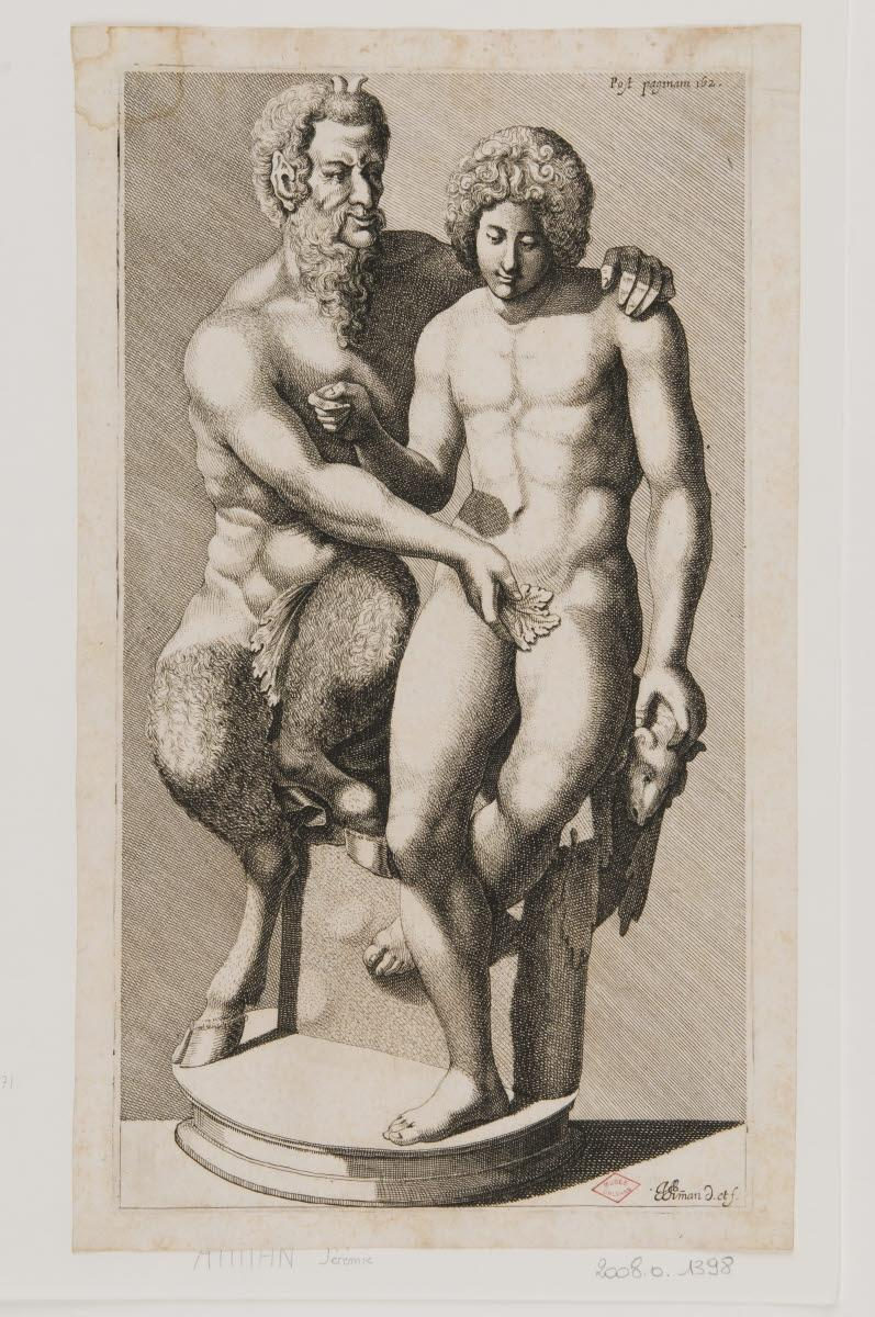 AMMAN Jérémie (dessinateur, graveur, inventeur) : Pan et son favori