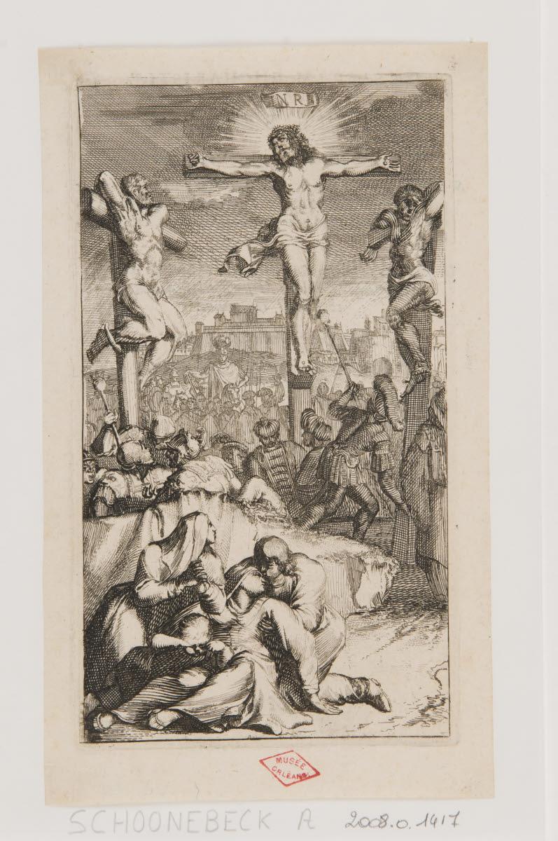 SCHOONEBEECK Adriaan (graveur) : Crucifixion