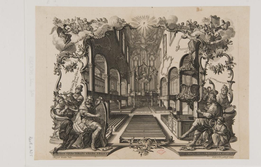RUGENDAS Gottlieb (graveur), SCHELLER August (inventeur, dessinateur) : Concert spirituel