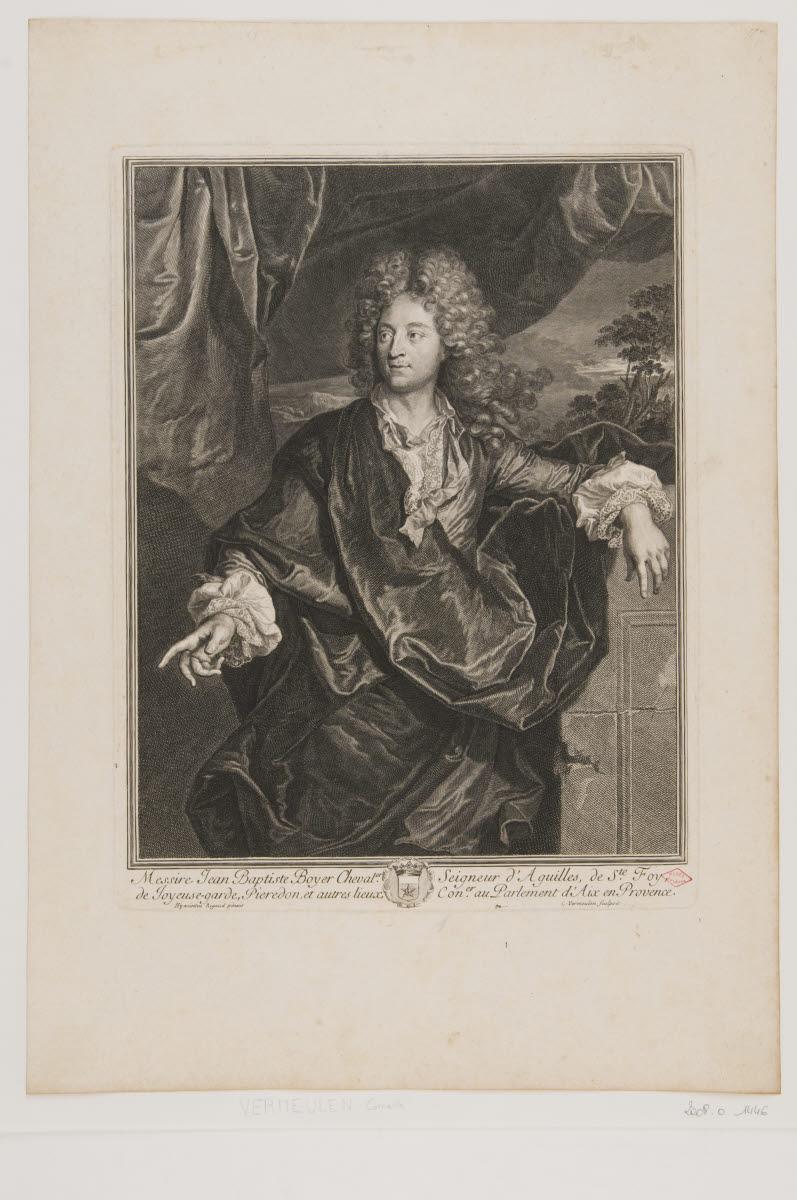 RIGAUD Hyacinthe (inventeur), VERMEULEN Cornelis (graveur) : Jean-Baptiste Boyer, seingeur d'Aguilles