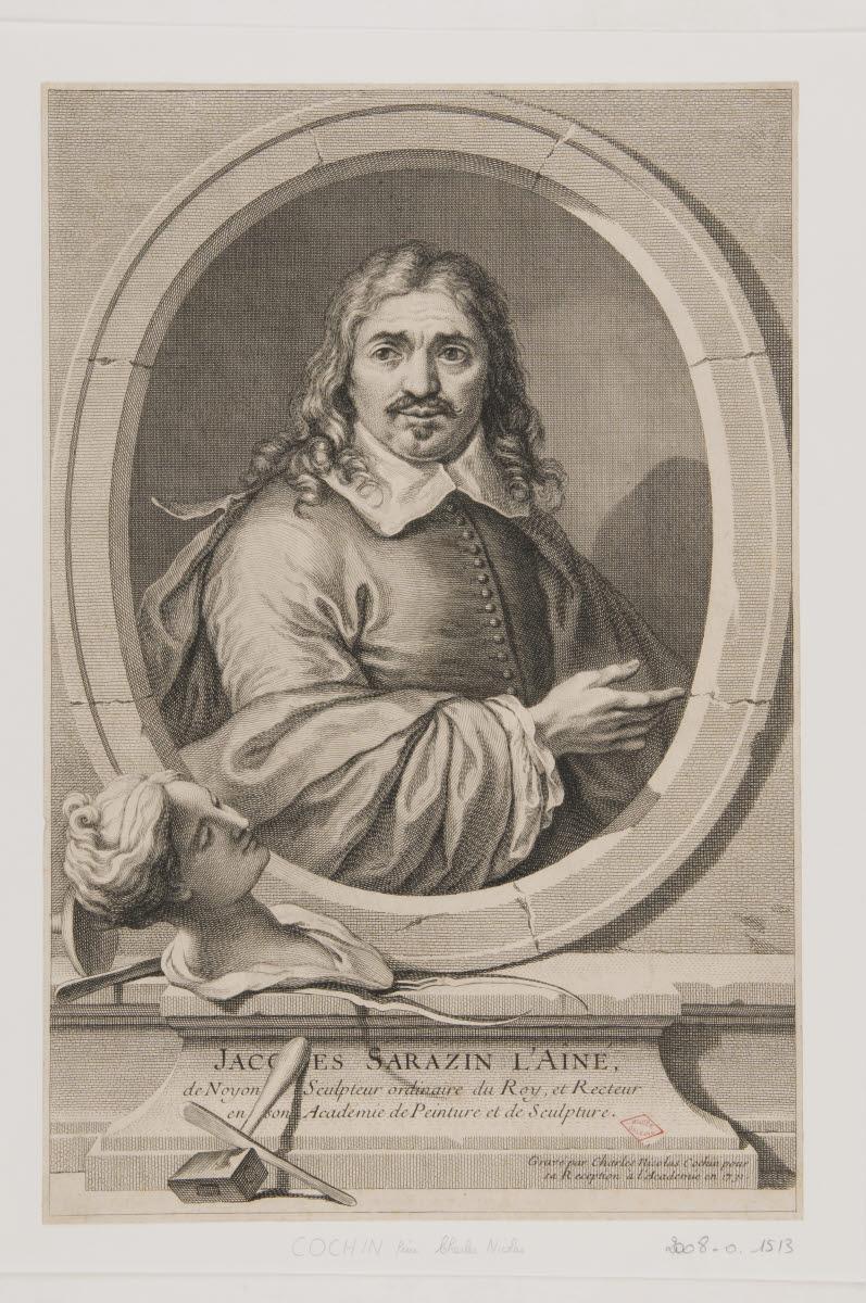 COCHIN Charles Nicolas (graveur) : Jacques Sarazin l'aîné