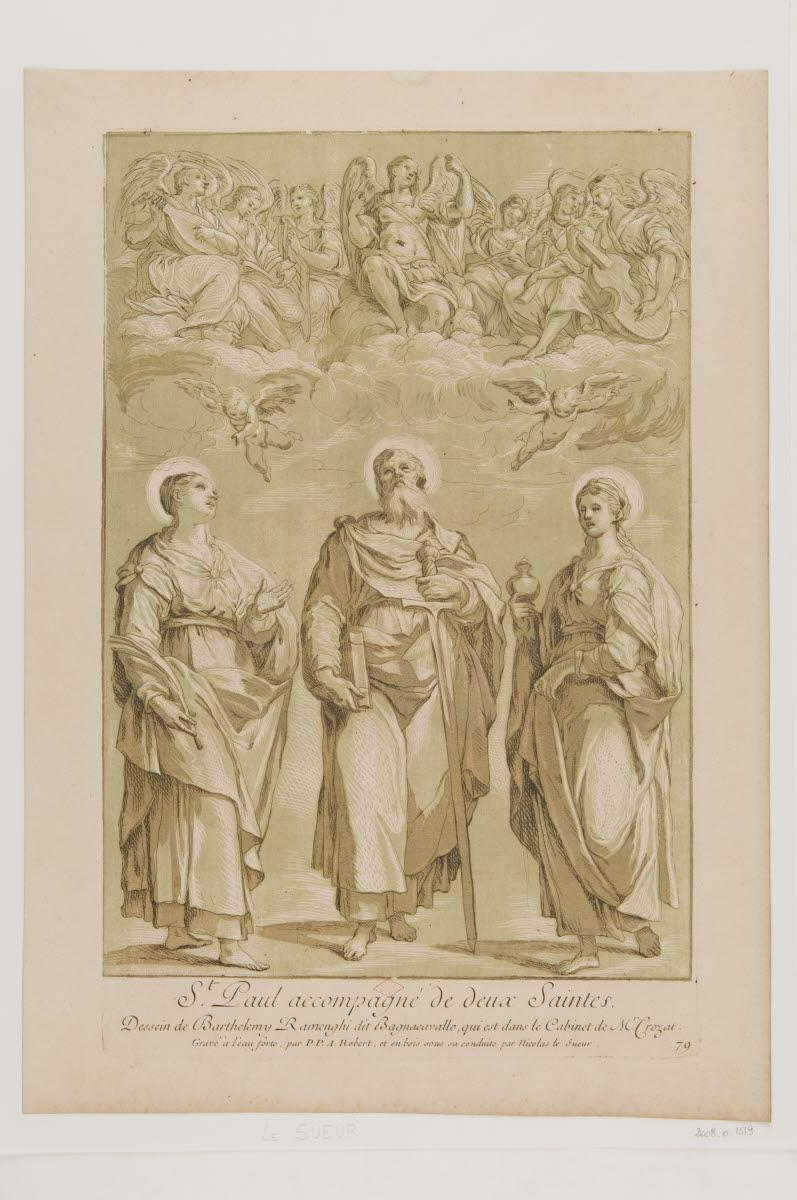 Saint Paul accompagné de deux saintes_0