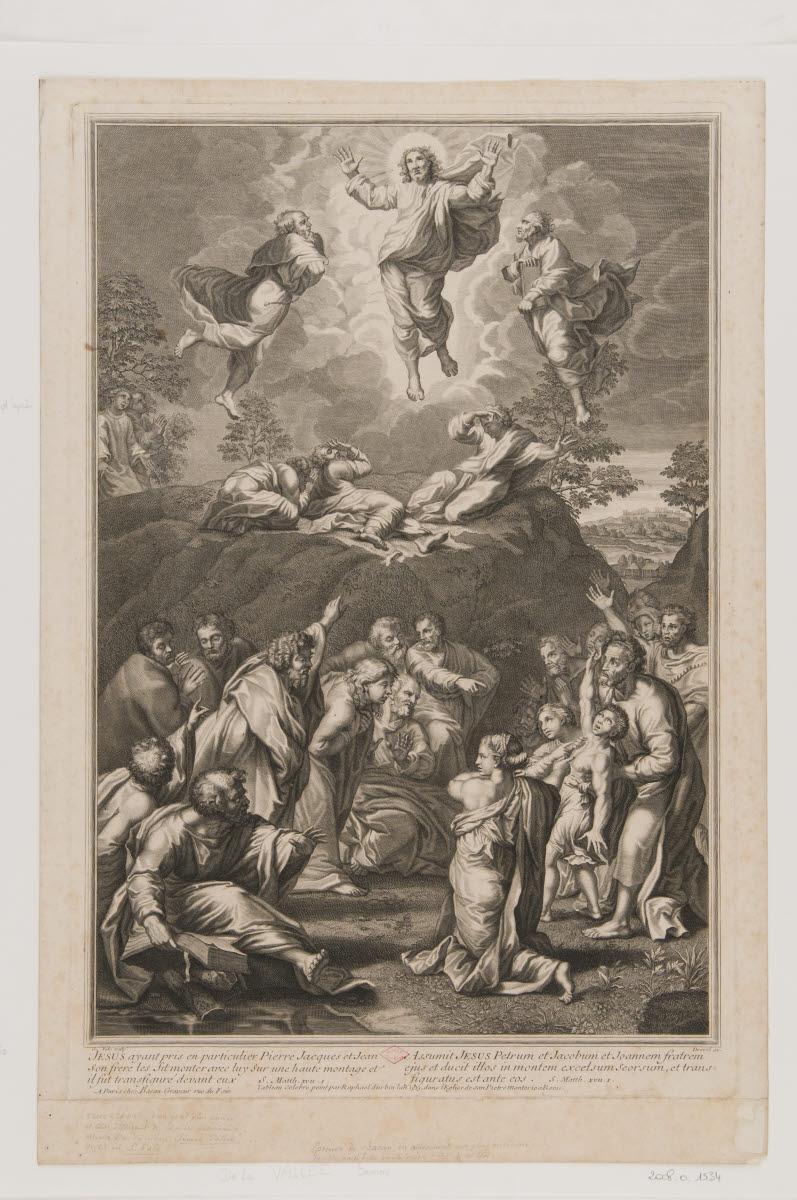 DREVET Pierre (éditeur), SANZIO Raffaello (inventeur, d'après), RAPHAEL (dit), VALLEE Simon de (graveur) : La Transfiguration