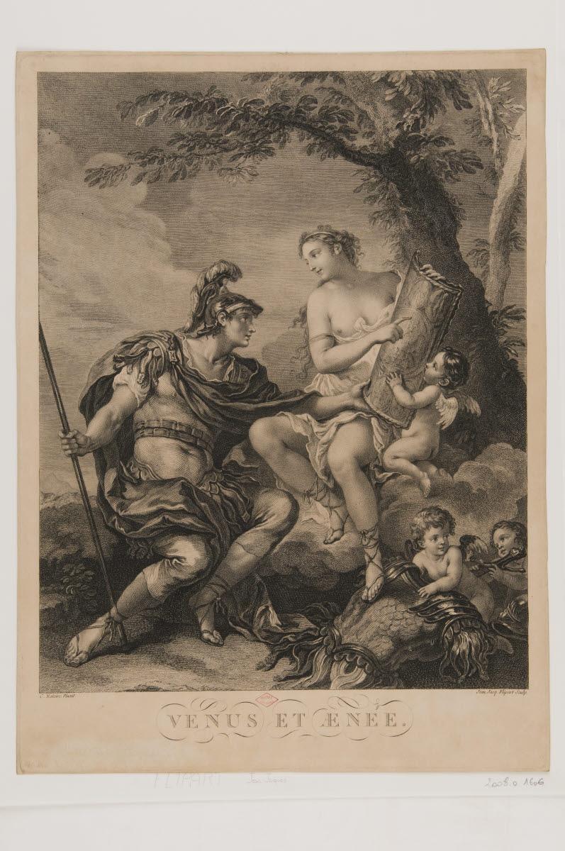 FLIPART Jean Jacques (graveur), NATOIRE Charles Joseph (inventeur) : Vénus et Enée