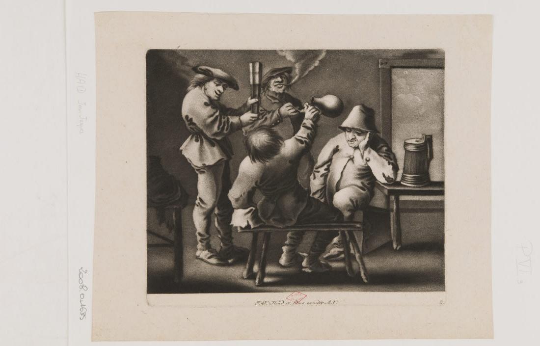 Scène de taverne avec quatre personnages_0