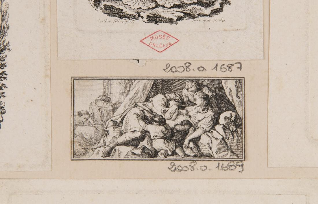 ALIAMET Jacques (graveur) : Scène d'affliction