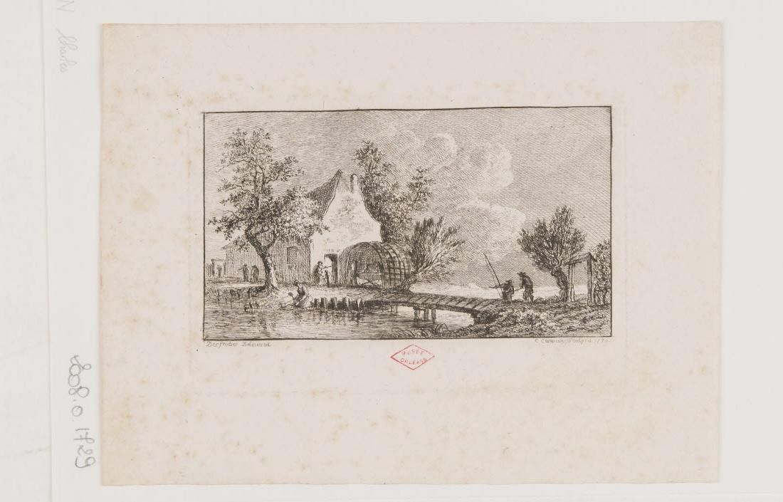 Vue des bords d'une rivière avec un pont_0