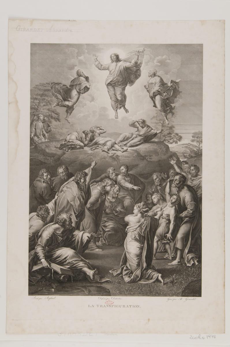 DUTERTRE André (dessinateur), GIRARDET Abraham (graveur), SANZIO Raffaello (inventeur, d'après), RAPHAEL (dit) : La Transfiguration