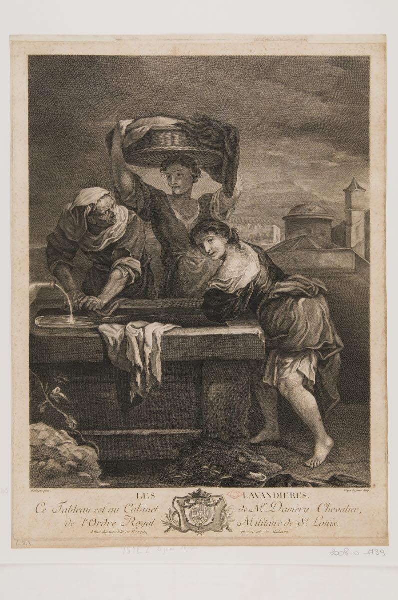BEAUVARLET Jacques Firmin (marchand), BOULLOGNE Louis le Jeune (inventeur, d'après), VOYEZ François (graveur) : Les Lavandières