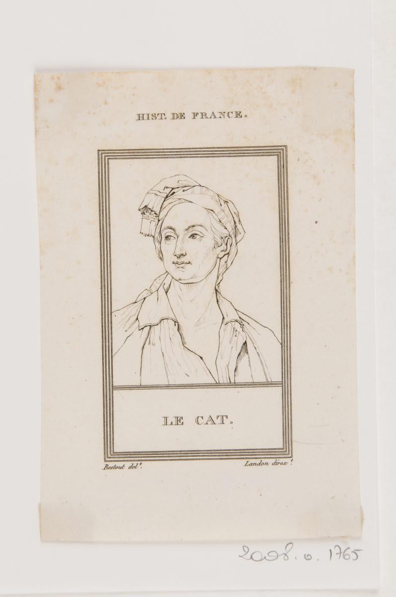 HENRIQUEZ Benoît Louis (graveur), RESTOUT Jean (inventeur, d'après) : Portrait de Claude-Nicolas Le Cat