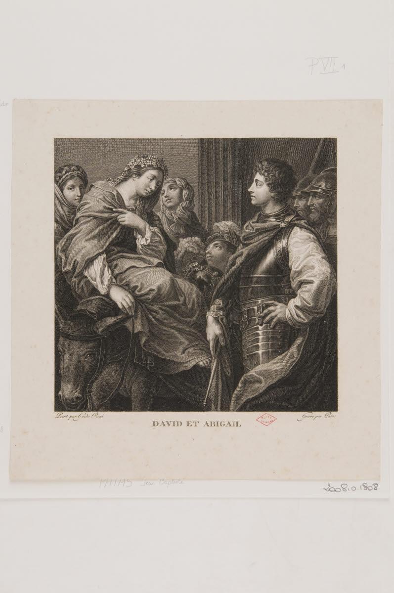PATAS Jean-Baptiste (graveur), RENI Guido (inventeur), LE GUIDE (dit) : David et Abigail