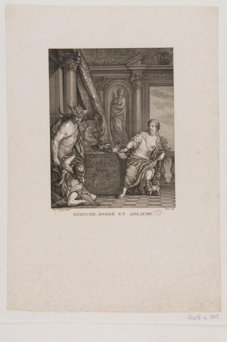 CALIARI Paolo (inventeur, d'après), VERONESE (dit), MOITTE Pierre Etienne (graveur) : Mercure, Hersé et Aglaure
