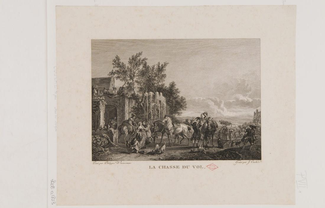 COUCHE Jacques (graveur), WOUWERMAN Philips (inventeur) : La chasse au vol