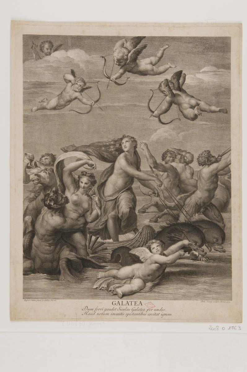 CUNEGO Domenico (graveur), SANZIO Raffaello (inventeur), RAPHAEL (dit) : Galathée