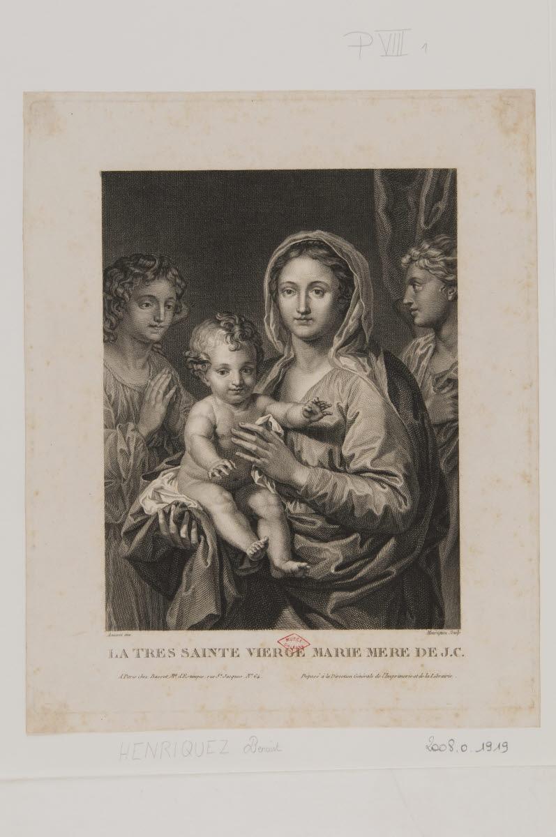 Vierge à l'Enfant entre deux anges_0