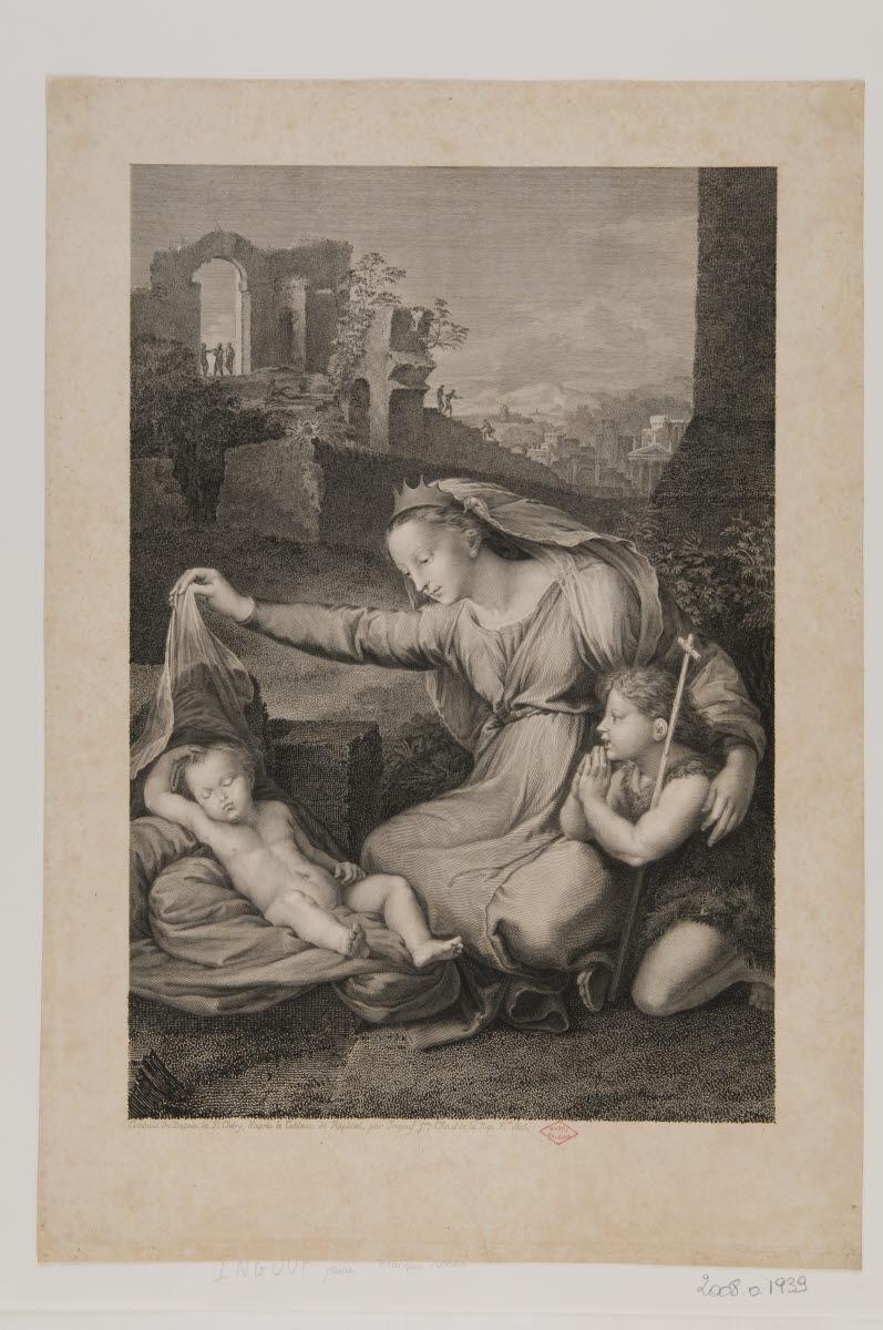 Vierge à l'Enfant avec saint Jean-Baptiste dite Vierge au linge_0