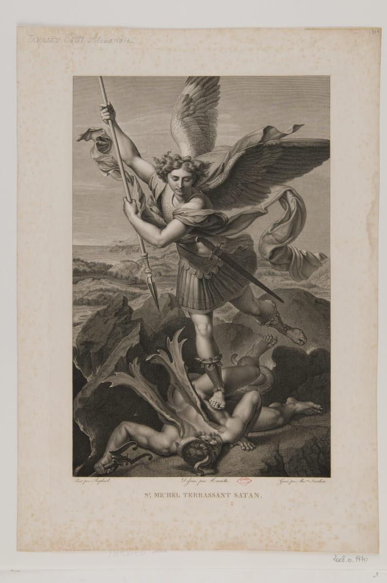 Saint Michel terrassant Satan_0