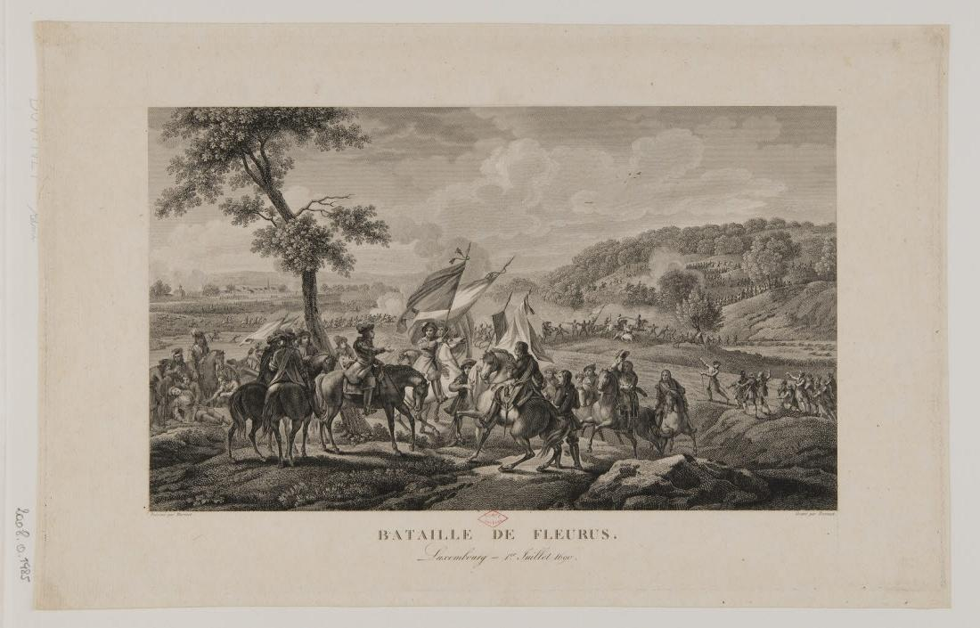 BOVINET Edme (graveur), MARTINET François Nicolas (dessinateur) : Bataille de Fleurus