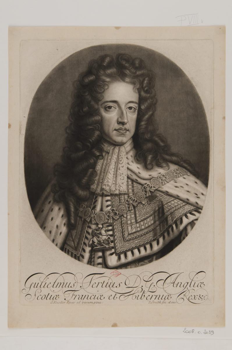 KNELLER Gottfried (inventeur, d'après), SMITH John (éditeur, graveur) : Guillaume III, roi d'Angleterre