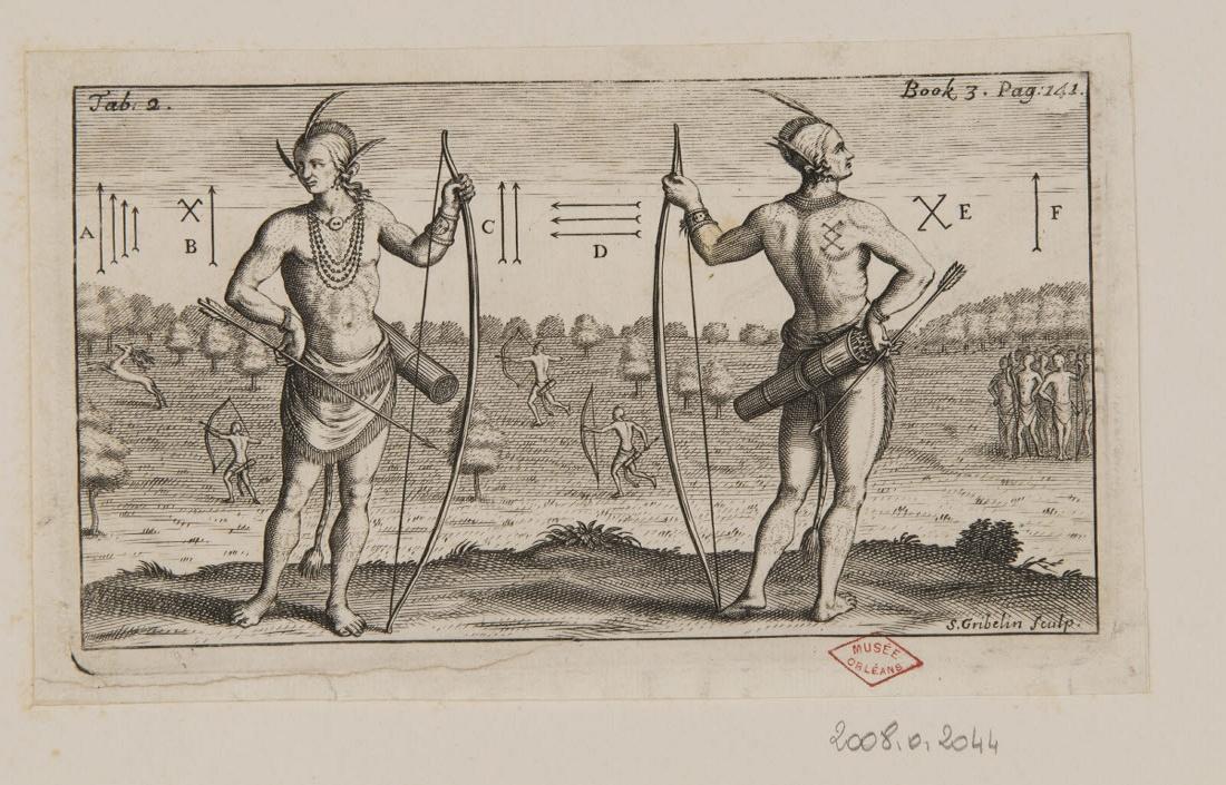 GRIBELIN Simon (graveur) : Deux indiens avec leurs arcs