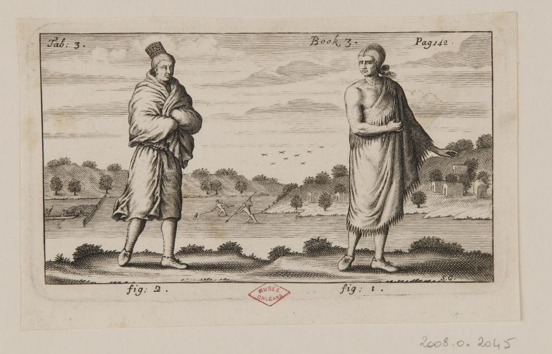 GRIBELIN Simon (graveur) : Deux indiens dans des manteaux