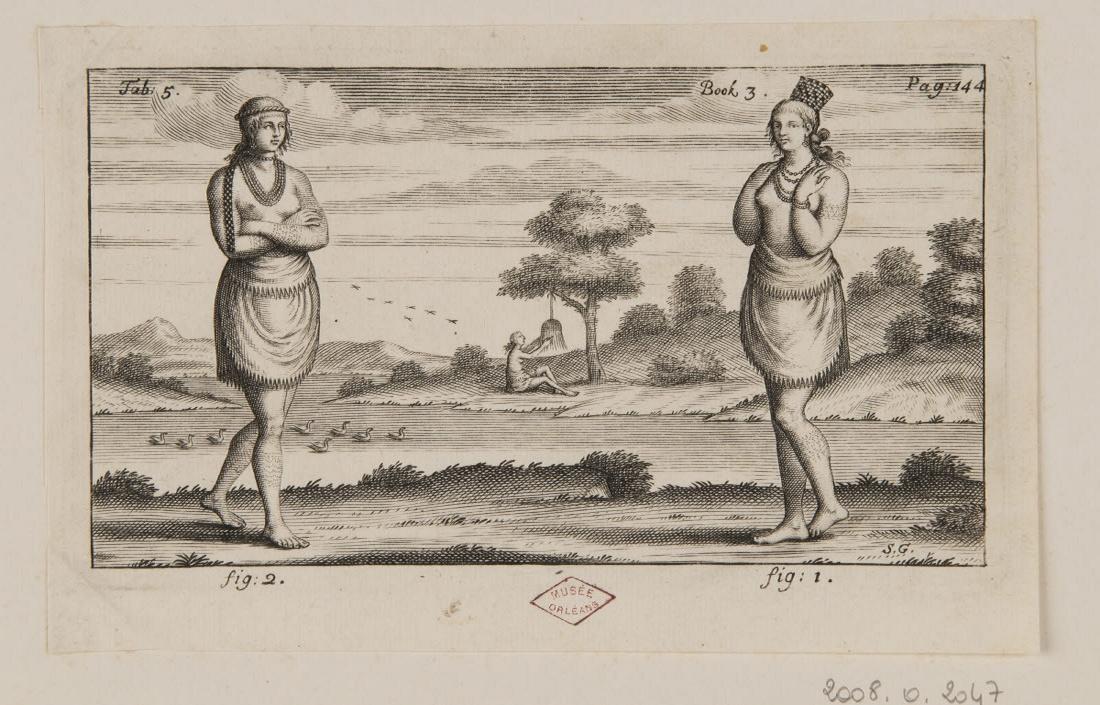 GRIBELIN Simon (graveur) : Deux femmes indiennes