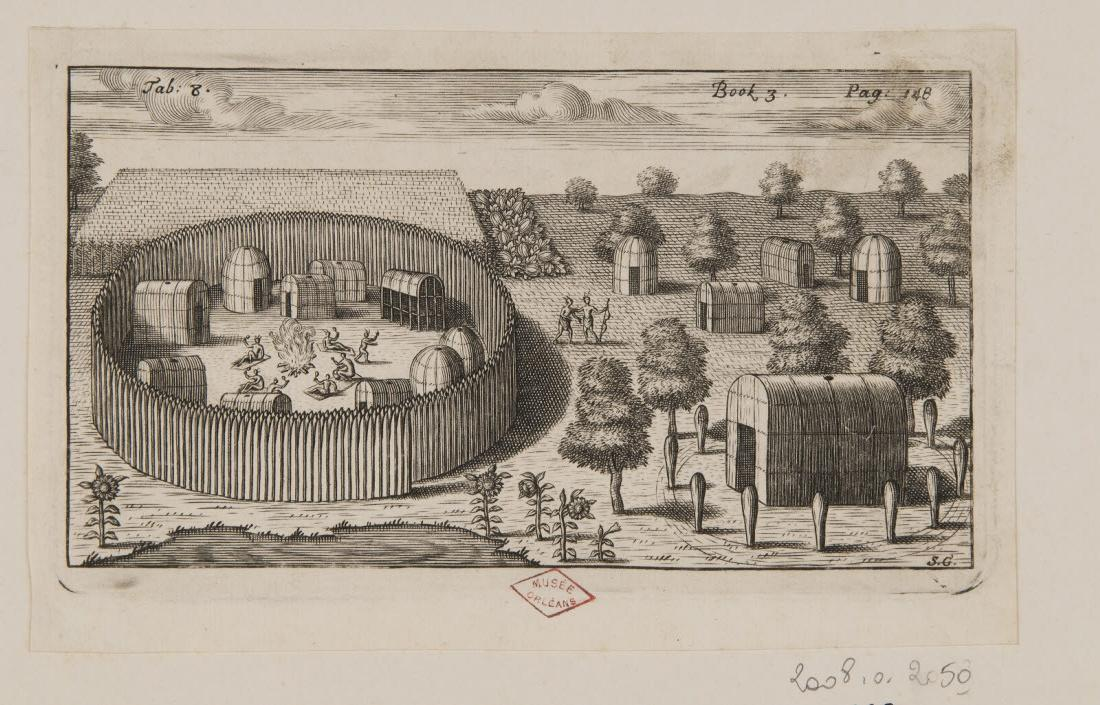 GRIBELIN Simon (graveur) : Un village indien
