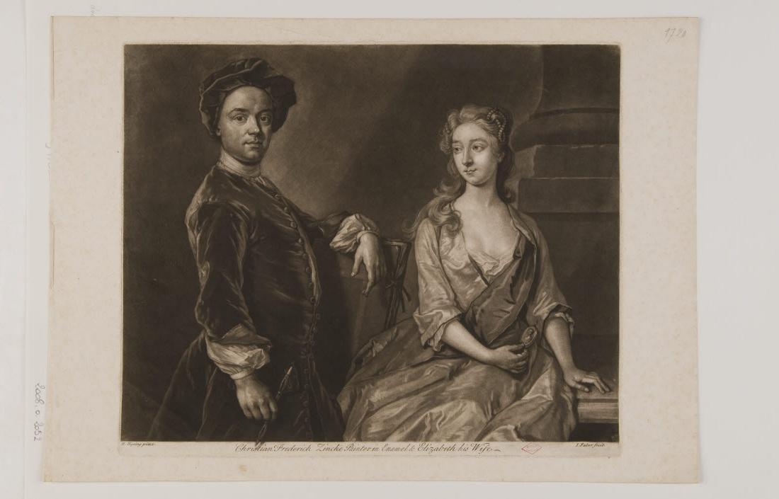 Le peintre Christian Fredrich Zincke et sa femme Elizabeth_0