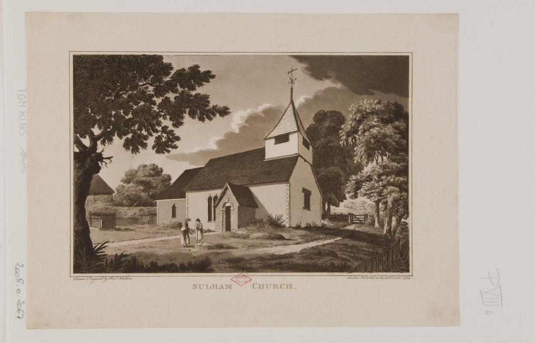 Vue de l'église de Sulham_0
