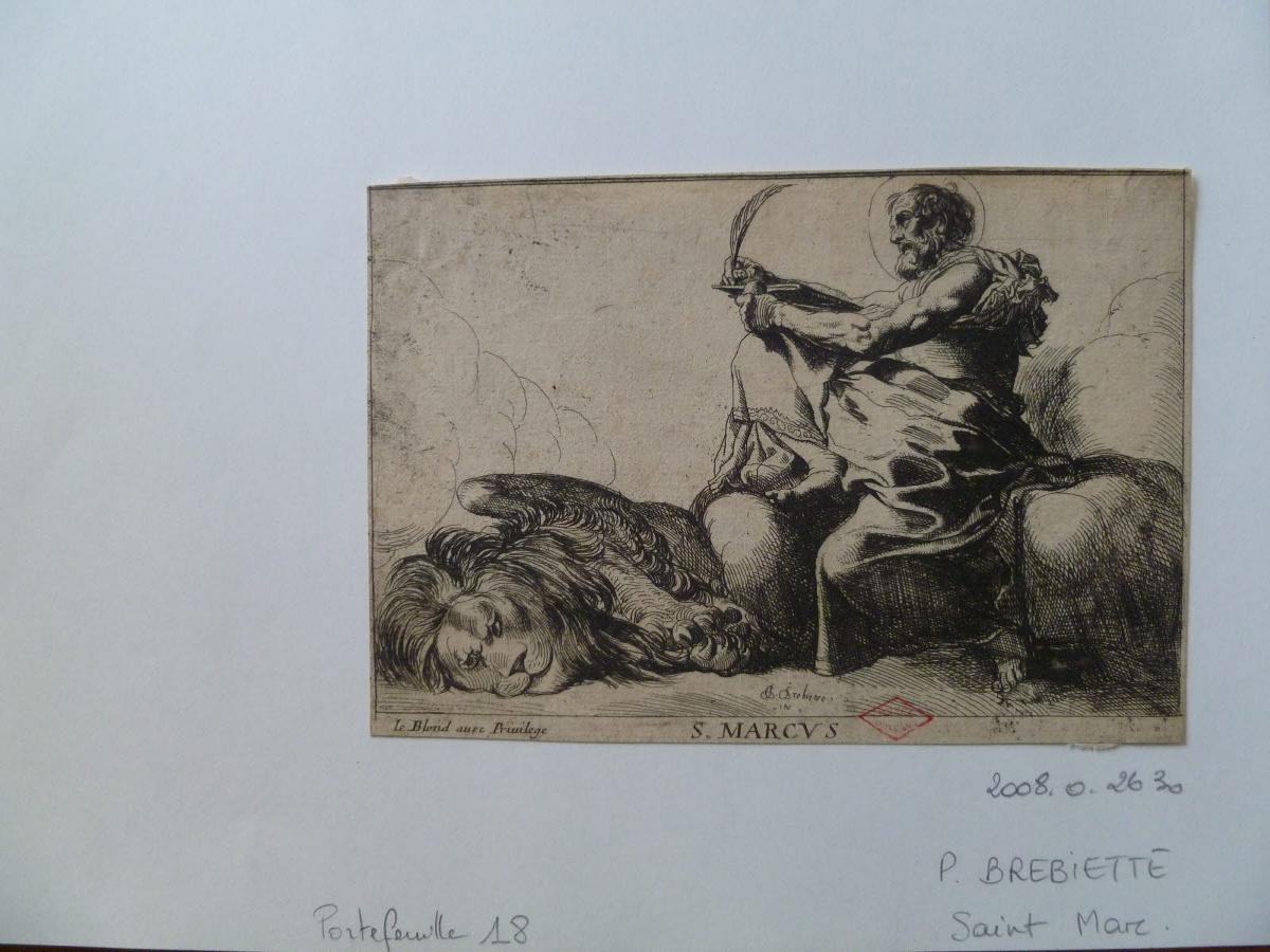 BREBIETTE Pierre (graveur) : Saint Marc