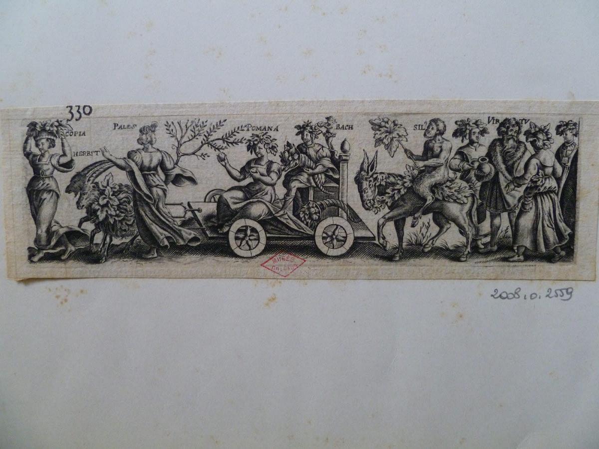 Triomphe avec Pomone, déesse romaine des jardins et Vertumne, dieu des saisons (n° 330)_0