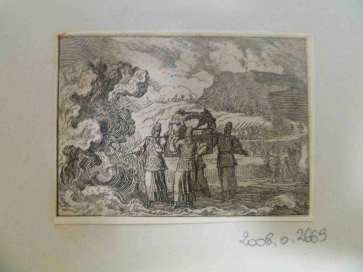 Passage du Jourdain avec quatre prêtres portant l'Arche_0