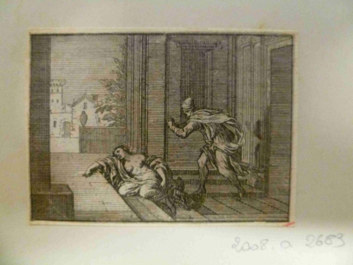 Levite découvrant le corps de sa concubine étendue sur une terrasse_0
