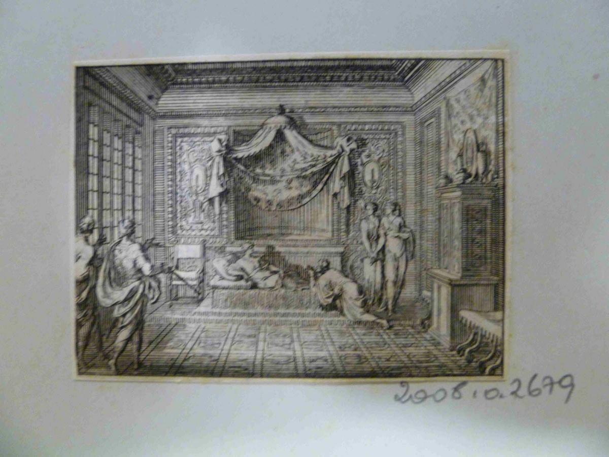 LECLERC Sébastien II (graveur), SERCY Charles de (éditeur), FINE DE BRIANVILLE Claude Oronce (écrivain) : Esther