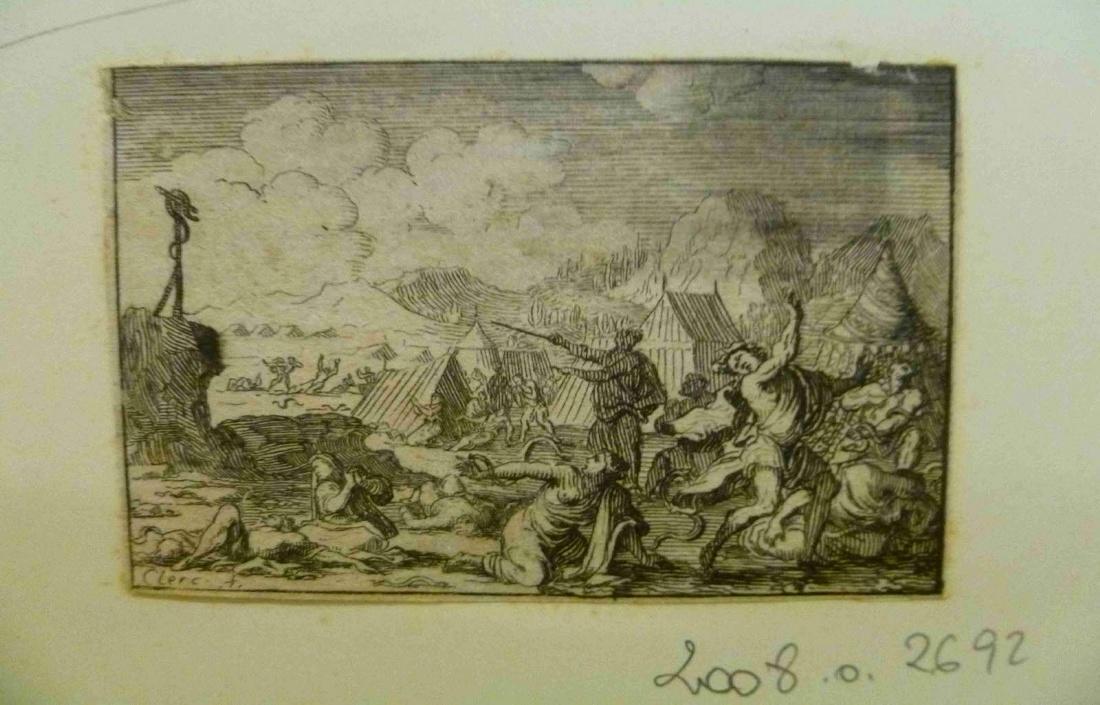 LECLERC Sébastien II (graveur) : Le serpent d'airain