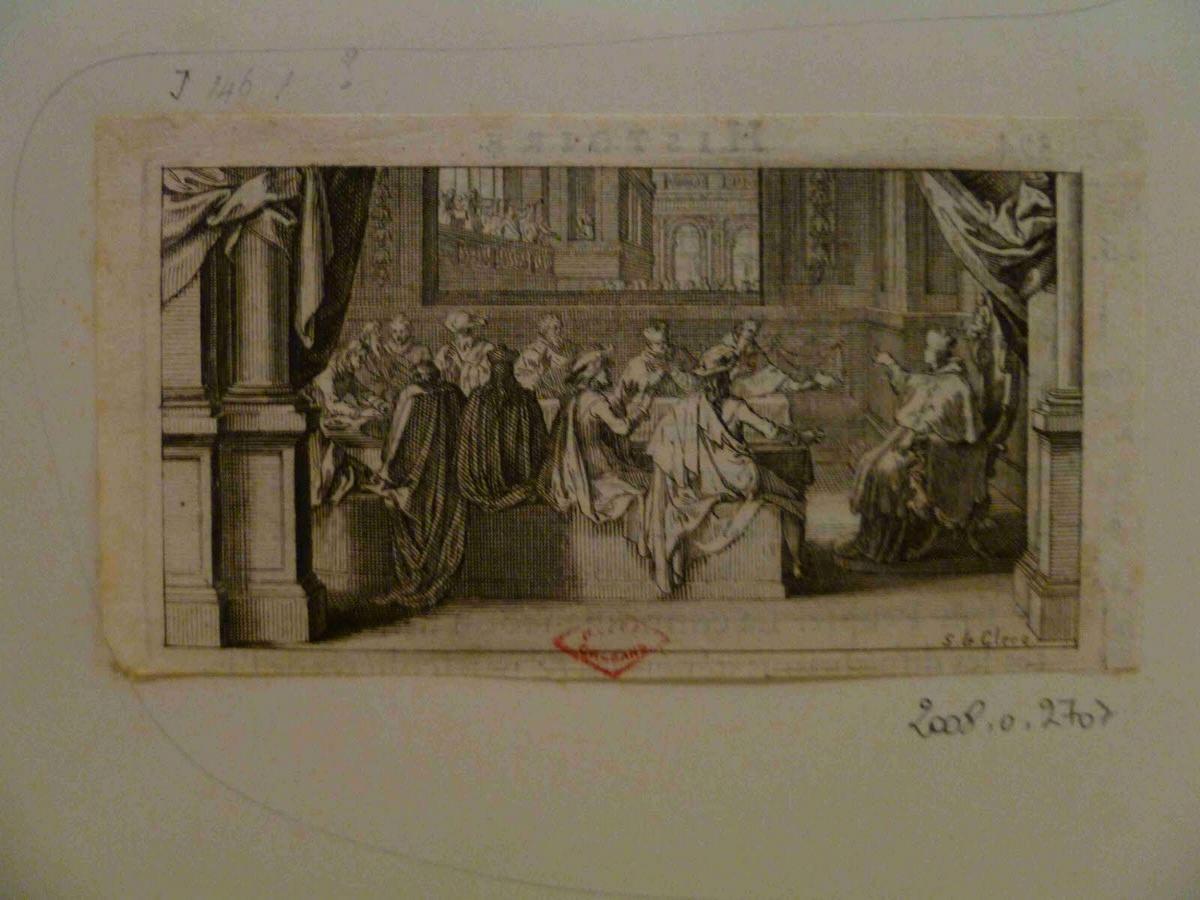 LECLERC Sébastien II (graveur) : Réunion de prélats