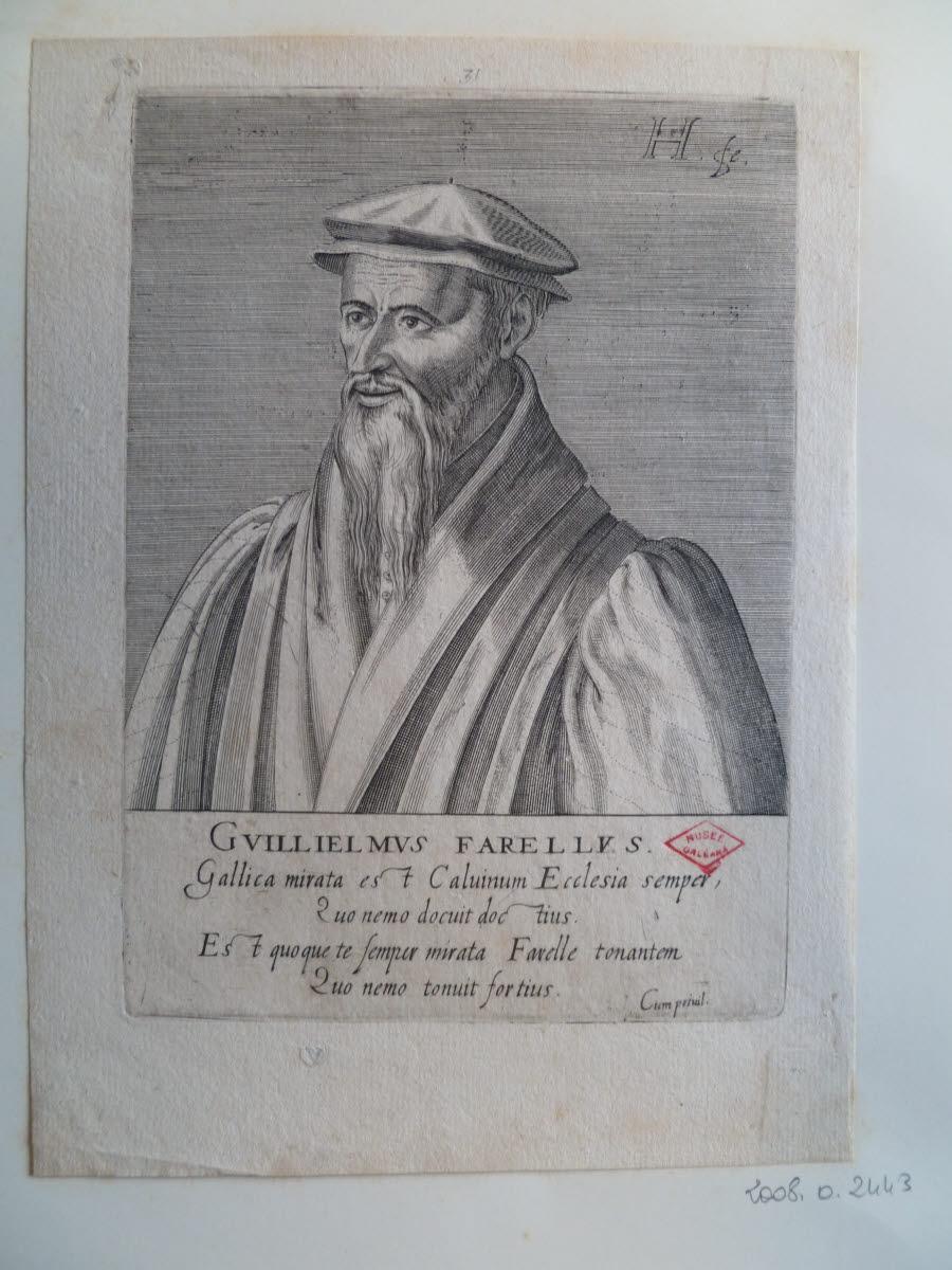 HONDIUS Hendrick (graveur), HONDIUS le Vieux (dit) : Portrait de Guillaume Farel