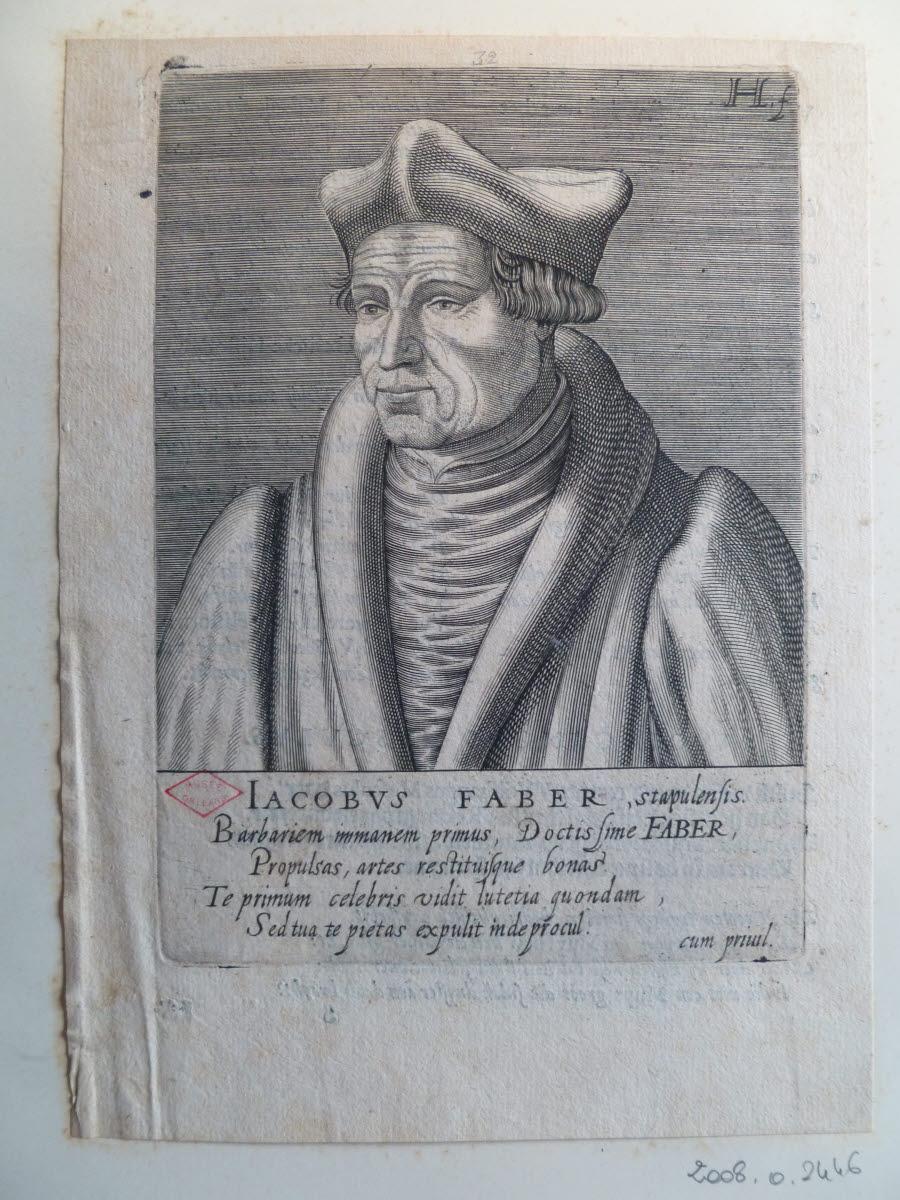 HONDIUS Hendrick (graveur), HONDIUS le Vieux (dit) : Portrait de Jacques Faber