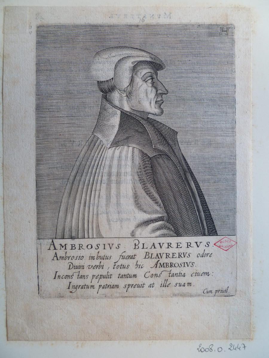 HONDIUS Hendrick (graveur), HONDIUS le Vieux (dit) : Portrait d'Ambroise Blaurer