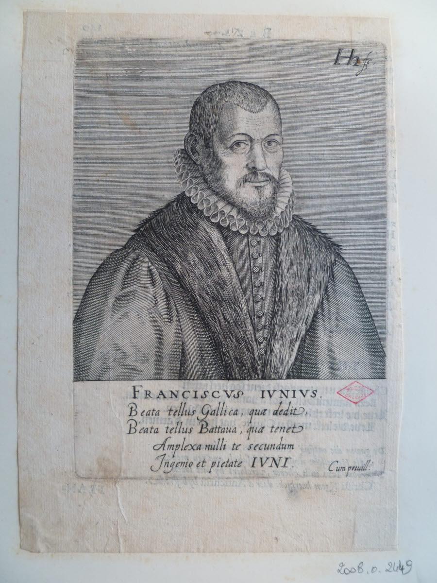 HONDIUS Hendrick (graveur), HONDIUS le Vieux (dit) : Portrait de François Junius ou François du Jon